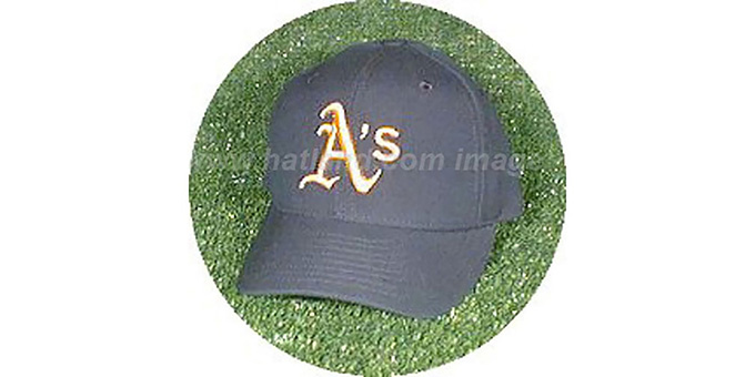 Oakland Athletics 'ROAD' Hat : pictured without stickers that these products are shipped with