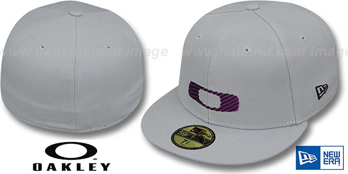 Oakley HAZMAT Grey Fitted Hat by New Era 915a048a18b