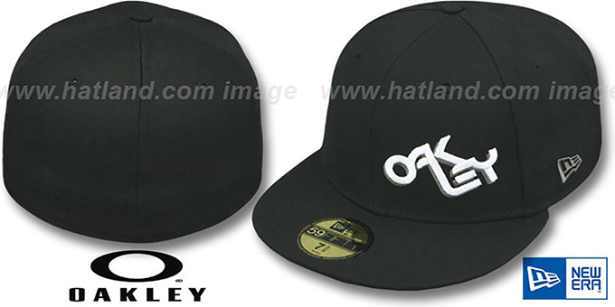 Oakley RETRO FADE Black Fitted Hat by New Era d6241ec00d0