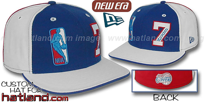 Odom 'DOUBLE WHAMMY' Royal-White-Red Fitted Hat : pictured without stickers that these products are shipped with