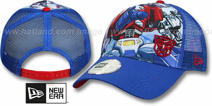21977256dcf Optimus Prime  SPLASH FRONT TRUCKER  Adjustable Hat by New Era