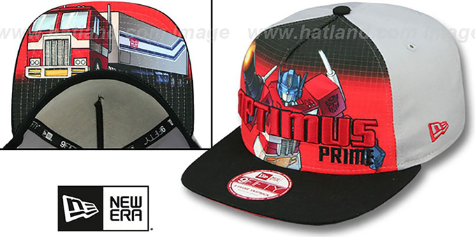 Optimus Prime 'SUB-RIVAL SNAPBACK' Adjustable Hat by New Era : pictured without stickers that these products are shipped with