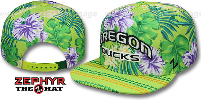 Oregon 'LANIKAI SNAPBACK' Hat by Zephyr : pictured without stickers that these products are shipped with