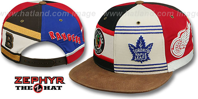 Original-6 'DYNASTY JERSEY SNAPBACK' Hat Zephyr : pictured without stickers that these products are shipped with