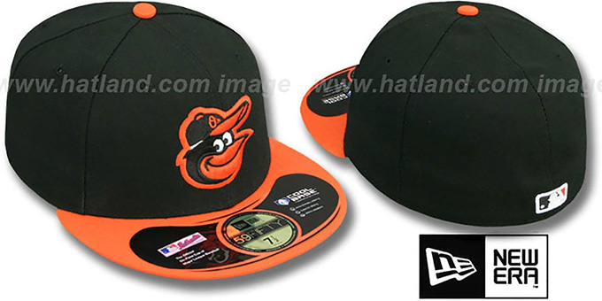 Orioles  'PERFORMANCE ROAD' Hat by New Era : pictured without stickers that these products are shipped with