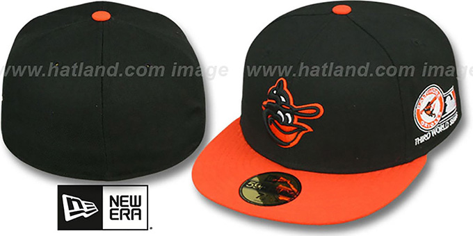 Orioles 1970 'WORLD SERIES CHAMPS' GAME Hat by New Era : pictured without stickers that these products are shipped with