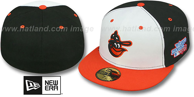 Orioles 1983 'WORLD SERIES CHAMPS' GAME Hat by New Era : pictured without stickers that these products are shipped with