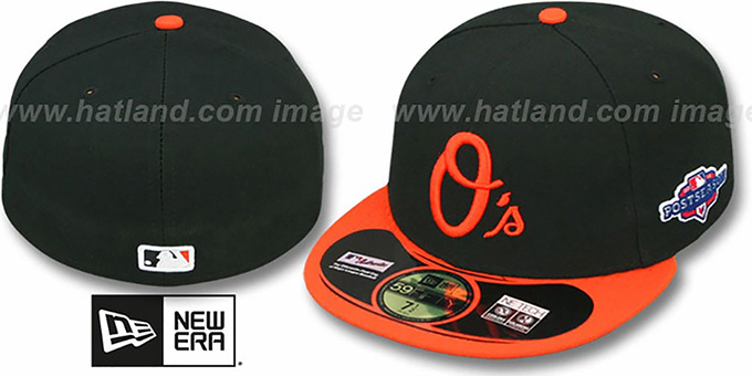 Orioles 2012 'PLAYOFF ALTERNATE' Hat by New Era : pictured without stickers that these products are shipped with