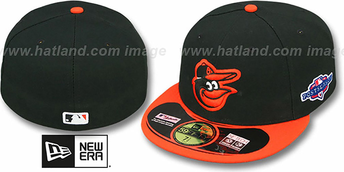 Orioles 2012 'PLAYOFF ROAD' Hat by New Era : pictured without stickers that these products are shipped with