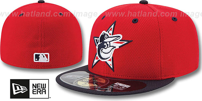 Orioles '2014 JULY 4TH STARS N STRIPES' Hat by New Era : pictured without stickers that these products are shipped with
