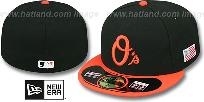 Orioles '2014 STARS-N-STRIPES 911 ALTERNATE' Hat by New Era : pictured without stickers that these products are shipped with