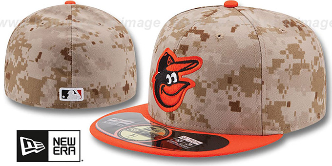 Orioles '2014 STARS N STRIPES' Fitted Hat by New Era : pictured without stickers that these products are shipped with