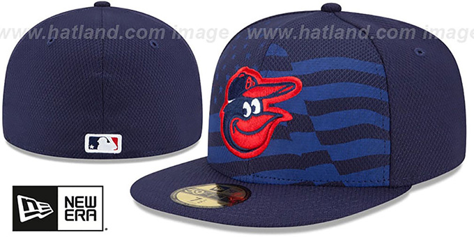 Orioles '2015 JULY 4TH STARS N STRIPES' Hat by New Era : pictured without stickers that these products are shipped with
