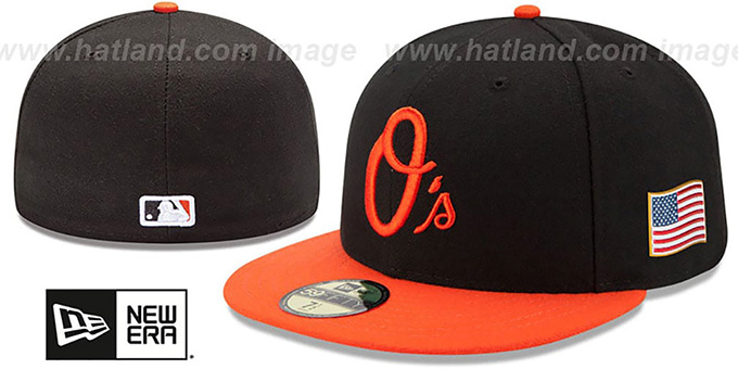 Orioles '2015 STARS-N-STRIPES 911 ALT' Hat by New Era : pictured without stickers that these products are shipped with