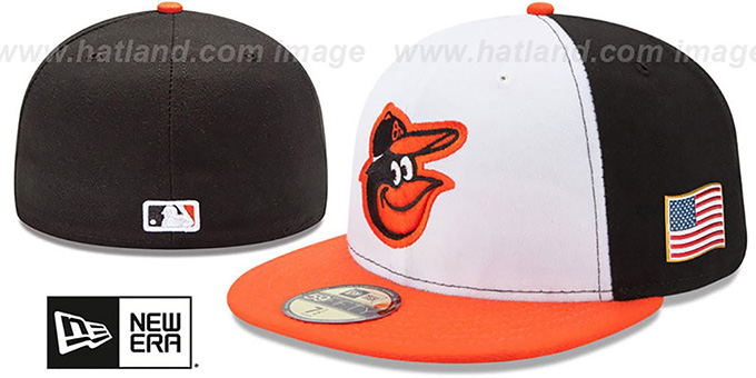 Orioles '2015 STARS-N-STRIPES 911 HOME' Hat by New Era : pictured without stickers that these products are shipped with