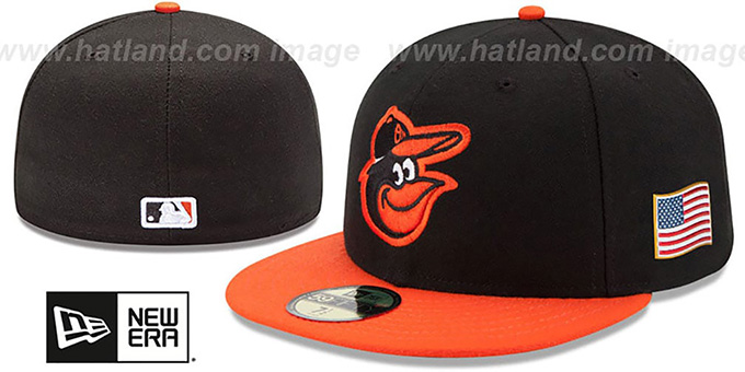 Orioles '2015 STARS-N-STRIPES 911 ROAD' Hat by New Era : pictured without stickers that these products are shipped with