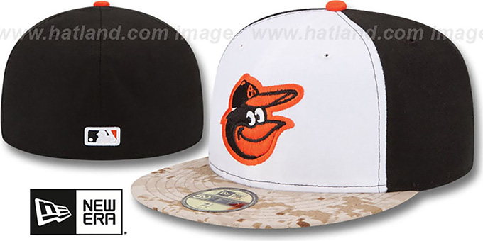 Orioles '2015 STARS N STRIPES' Fitted Hat by New Era : pictured without stickers that these products are shipped with