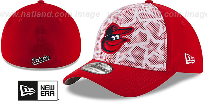 Orioles '2016 JULY 4TH STARS N STRIPES FLEX' Hat by New Era : pictured without stickers that these products are shipped with