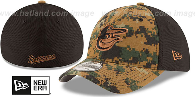 Orioles 2016 MEMORIAL DAY 'STARS N STRIPES FLEX' Hat by New Era : pictured without stickers that these products are shipped with