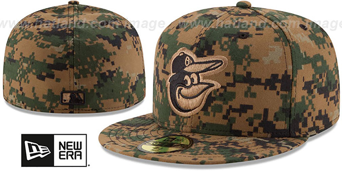 Orioles 2016 MEMORIAL DAY 'STARS N STRIPES' Hat by New Era : pictured without stickers that these products are shipped with