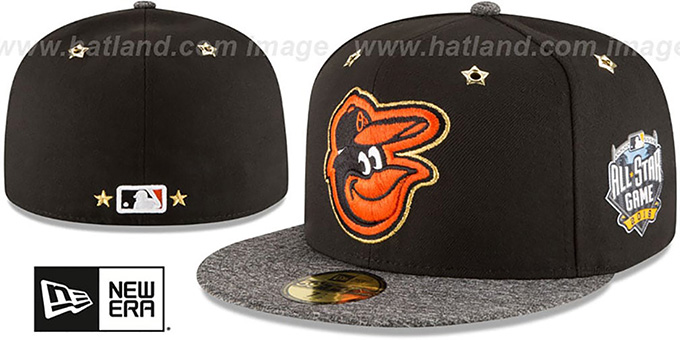 Orioles '2016 MLB ALL-STAR GAME' Fitted Hat by New Era : pictured without stickers that these products are shipped with