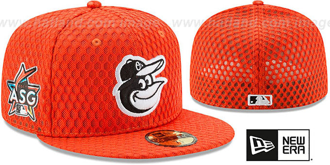 Orioles  2017 MLB HOME RUN DERBY  Orange Fitted Hat by New Era 4acc895aaaf4