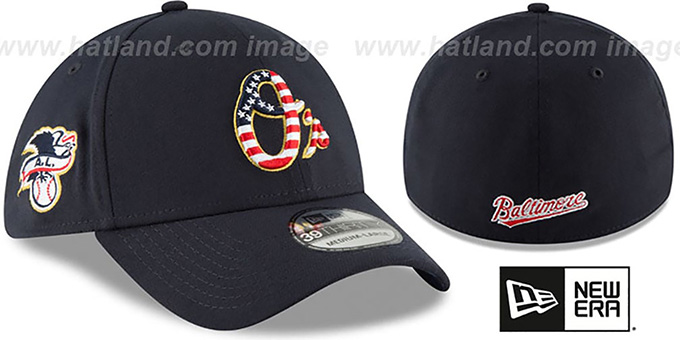 separation shoes 1857b 80169 ... New Era. video available. Orioles  2018 JULY 4TH STARS N STRIPES FLEX   Navy Hat by ...