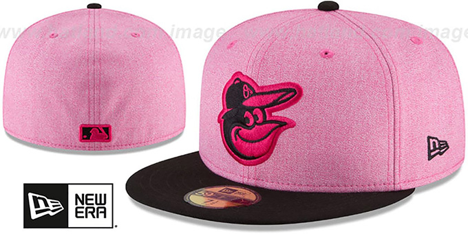 Orioles  2018 MOTHERS DAY  Pink-Black Fitted Hat by New Era faa5f27c120e