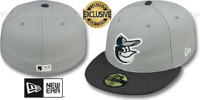 Orioles '2T-FASHION' Grey-Charcoal Fitted Hat by New Era : pictured without stickers that these products are shipped with