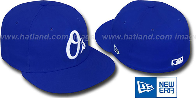 Orioles ALT 'SOLID FASHION' Royal-White Fitted Hat by New Era : pictured without stickers that these products are shipped with