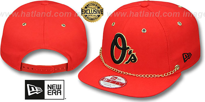 separation shoes 473a8 4685f Orioles  CHAIN SNAPBACK  Orange Hat by New Era