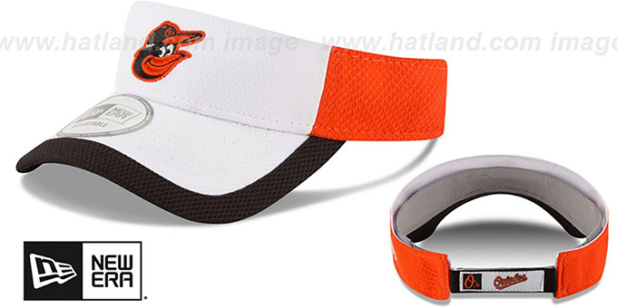 Orioles 'COLOR-BLOCK VISOR' by New Era : pictured without stickers that these products are shipped with