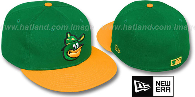 Orioles COOP '2T-FASHION' Green-Gold Fitted Hat by New Era : pictured without stickers that these products are shipped with
