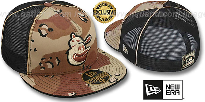 Orioles COOP 'DESERT STORM MESH-BACK' Fitted Hat by New Era : pictured without stickers that these products are shipped with