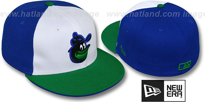 Orioles COOP 'PW-FASHION' White-Royal-Green Fitted Hat by New Era : pictured without stickers that these products are shipped with