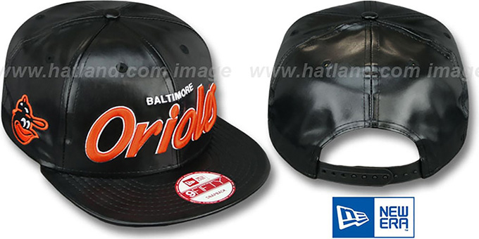 Orioles COOP 'REDUX SNAPBACK' Black Hat by New Era : pictured without stickers that these products are shipped with