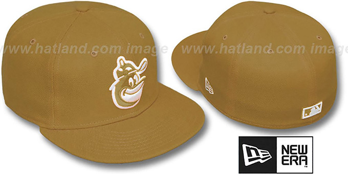 44a487df194 Baltimore Orioles COOP SOLID FASHION Wheat-White Fitted Hat