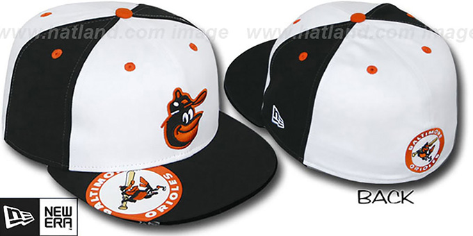 Orioles 'COOPERSTOWN ORLANTIC' White-Black Fitted Hat by New Era : pictured without stickers that these products are shipped with