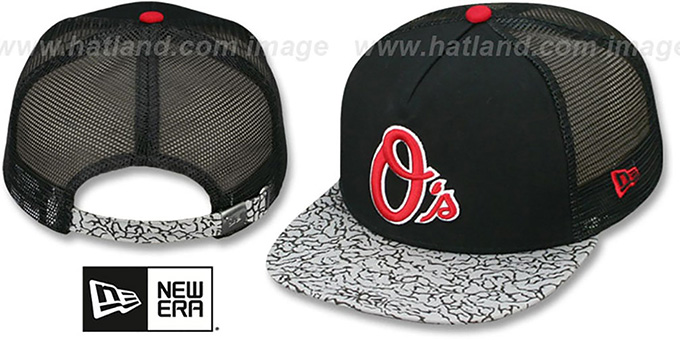 Orioles 'ELEPHANT-HOOK STRAPBACK' Hat by New Era : pictured without stickers that these products are shipped with