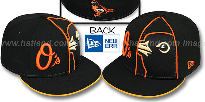 Orioles 'HBH ZOOM' Black Fitted Hat by New Era : pictured without stickers that these products are shipped with