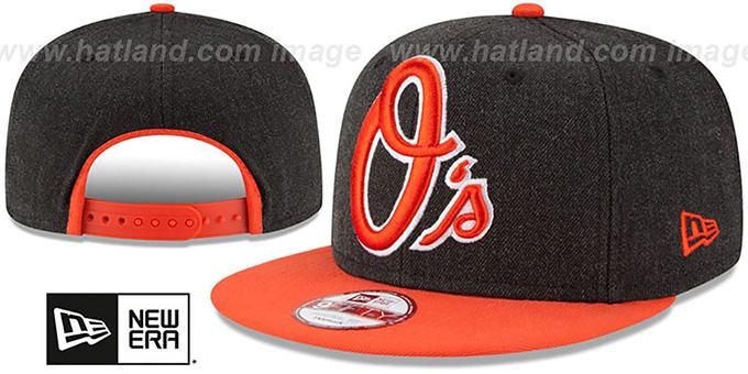 Baltimore Orioles LOGO GRAND SNAPBACK Charcoal-Orange Hat f7a231d80d6