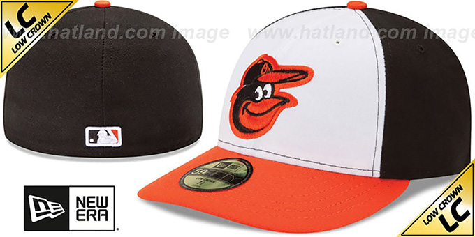 Orioles 'LOW-CROWN' HOME Fitted Hat by New Era : pictured without stickers that these products are shipped with