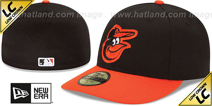 Orioles 'LOW-CROWN' ROAD Fitted Hat by New Era : pictured without stickers that these products are shipped with