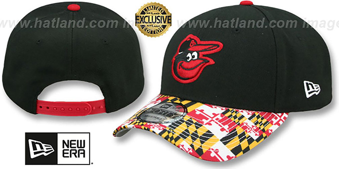 2afb24761 Baltimore Orioles MARYLAND-FLAG LC 940 Black Hat by New Era
