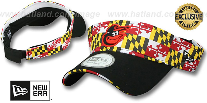 Orioles maryland flag visor flag black by new era