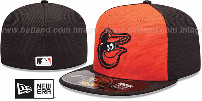 Orioles 'MLB DIAMOND ERA' 59FIFTY Orange-Black BP Hat by New Era : pictured without stickers that these products are shipped with