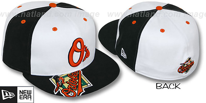 Orioles 'ORLANTIC' White-Black Fitted Hat by New Era : pictured without stickers that these products are shipped with
