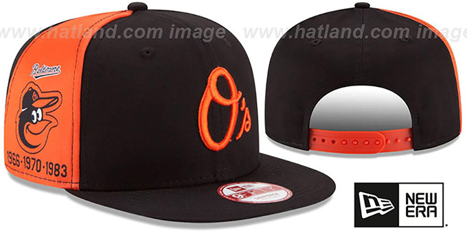 Orioles 'PANEL PRIDE SNAPBACK' Hat by New Era : pictured without stickers that these products are shipped with