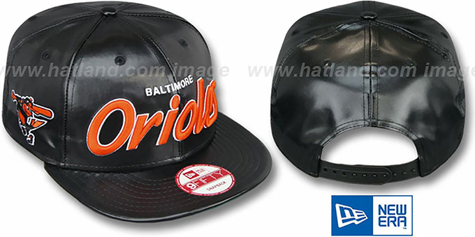 Orioles 'REDUX SNAPBACK' Black Hat by New Era : pictured without stickers that these products are shipped with