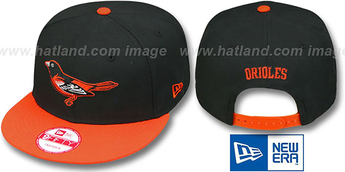 Orioles 'REPLICA GAME SNAPBACK' Hat by New Era : pictured without stickers that these products are shipped with